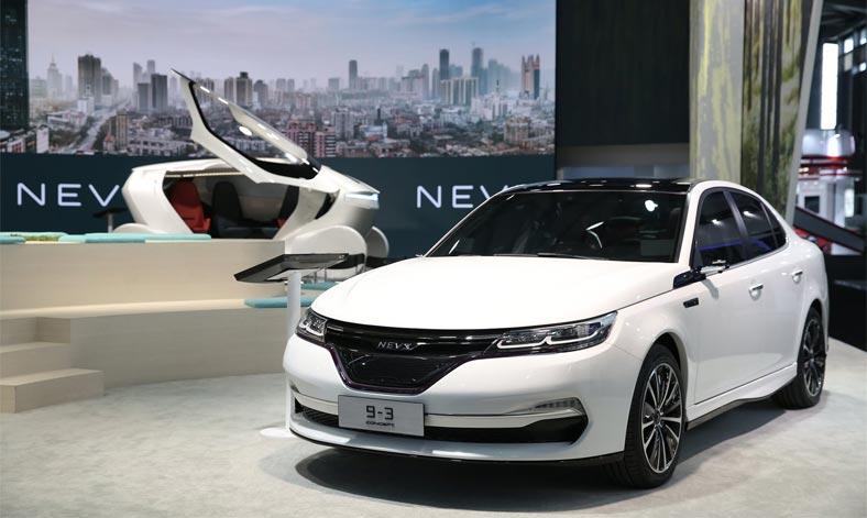 Китайская компания NEVS продемонстрировала электромобили на базе SAAB